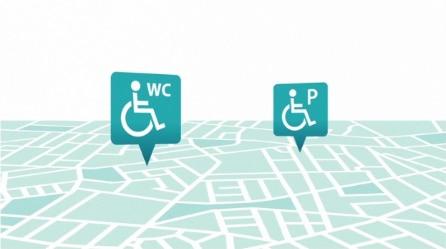 Εύρεση προσβάσιμων χώρων τουαλέτας και στάθμευσης
