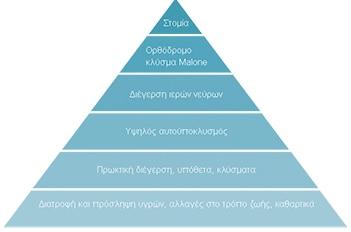 Πυραμίδα Επιλογών διαχείρισης εντέρου
